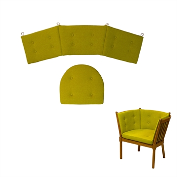 "Cushion set in Woll Fabric ""Hestedaekken"" for 1790 horseshoe chair"
