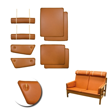 Cushion set in Elmo Baltique Leather for BM 2252 two-seat sofa