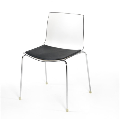 Seat in LEATHER cushion for the Arper Catifa 46 chair