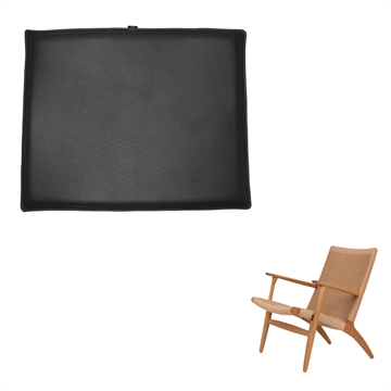 Reversible Seat Cushion in Basic Select Leather for the CH 25 chair