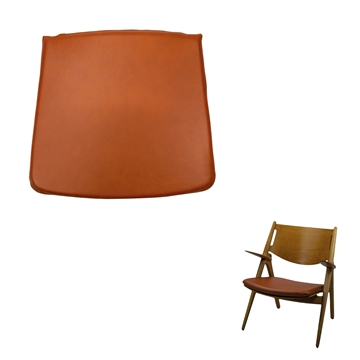 Reversible Seat Cushion in Basic Select Leather for the CH28 the sawbuck chair
