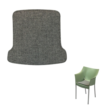 Non-reversible Luxury seat cushion in Hallingdal 65 fabric for the Dr. No Armchair