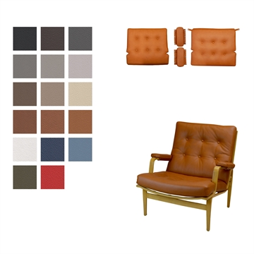 Cushion set for the DUX Ingrid chair in Basic Select Leather