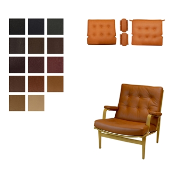 Cushion set for the DUX Ingrid chair in Elmo Baltique Leather