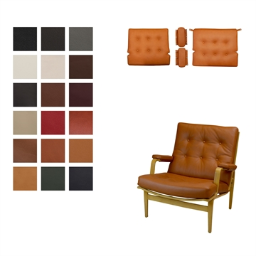Cushion set for the DUX Ingrid chair in Luxury 2018 Leather