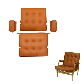 Cushion set in Basic Select Leather for the DUX Ingrid chair