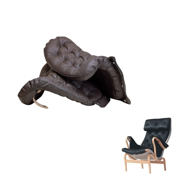 Arm cushion set in Basic Select Leather for the DUX Pernilla 69 chair