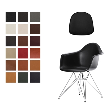 Lux Seat cushions in Luxury Leather for Eames Plastic Armchair DAR/DAW/DAX/PACC/DAL/RAR