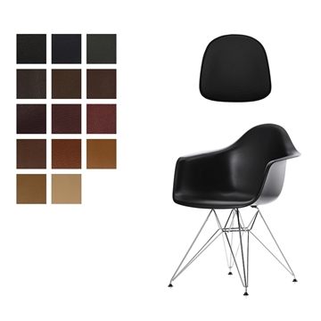 Lux seat cushion in Elmo Baltique for Eames model Plastic Armchair DAR/DAW/DAX/PACC/DAL/RAR by Charles and Ray Eames.