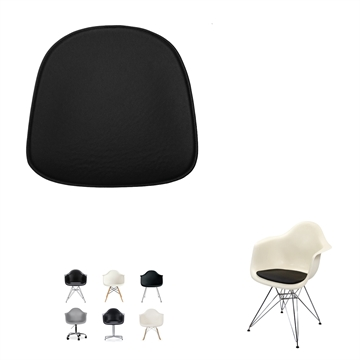 Non-reversible Luxury seat cushion in Basis Select Leather for Eames model Plastic Armchair DAR / DAW / DAX / DAL