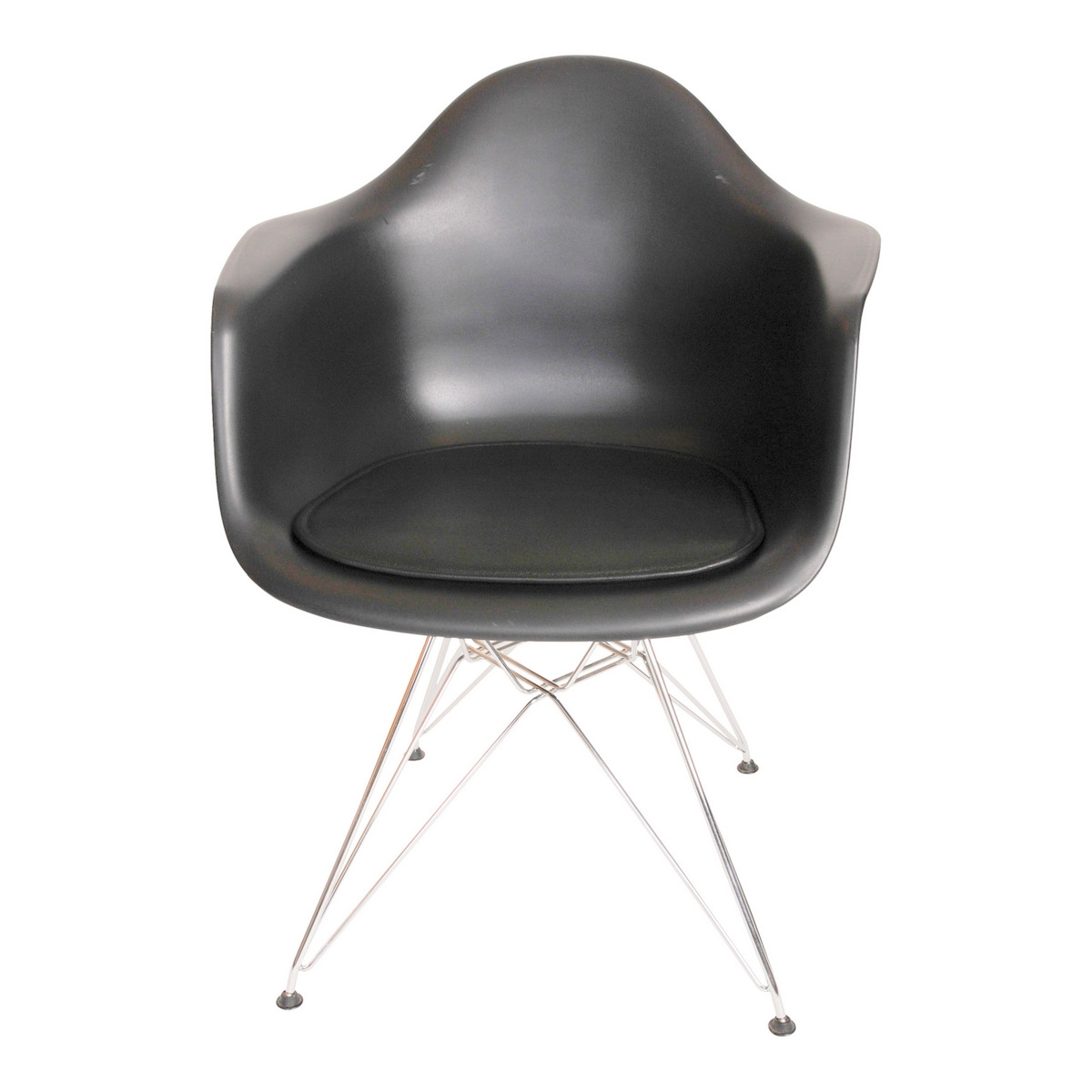 Cushion In Luxury Leather For Eames Plastic Armchair DAR