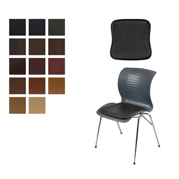 Lux seat cushion for ensemble chair in Elmo Baltique Leather
