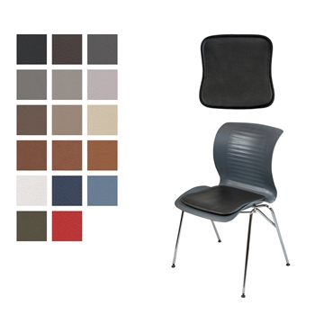 Lux seat cushion for ensemble chair in Basic Select Leather