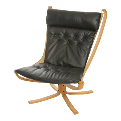 Cushion in LEATHER for Falcon chair, with high back