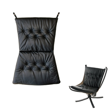 Cushion set for the Falcon chair in Basic Select Leather