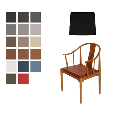 Reversible Cushion in Basic Select Leather for the FH 4283 China chair, Without buttons