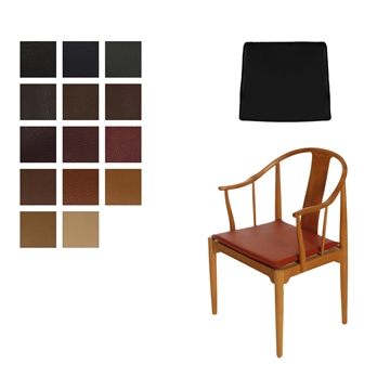 Reversible Cushion in Elmo Baltique Leather for the FH 4283 China chair, Without buttons