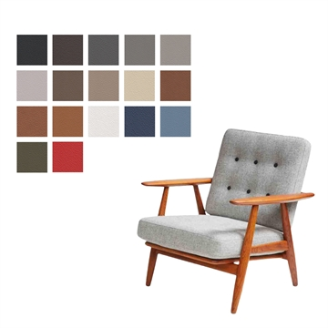 Cushion set for the GE 240 chair in Basic Select Leather