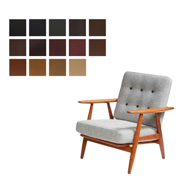 Cushion set for the GE 240 chair in ELmo Baltique Leather
