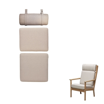 "Cushion set in Woll Fabric ""Hestedaekken"" for the GE 265 A chair"