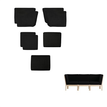 Cushion set in Basic selecet Leather for GE280 module 3 pers sofas