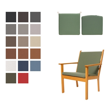 Cushion set for the GE 284 chair in Basic Select Leather