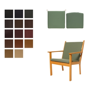 Cushion set for the GE 284 chair in Elmo Baltique Leather