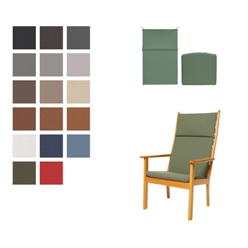 Cushion set for the GE 284A chair in Basic Select Leather