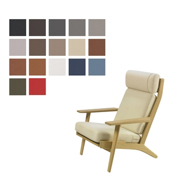 Cushion set for the GE 290A chair in Basic Select Leather