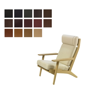 Cushion set for the GE 290A chair in Elmo Baltique Leather