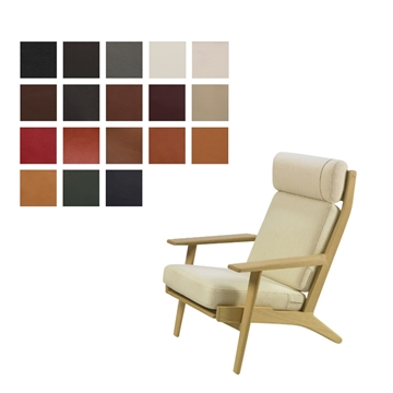 Cushion set for the GE 290A chair in Luxury Leather