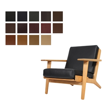 Cushion set for the GE 290 chair in ELmo Baltique Leather