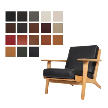Cushion set for the GE 290 chair in Luxury Leather