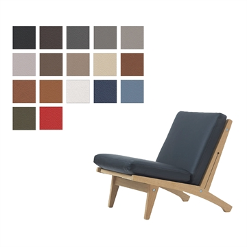 Cushion set for the GE 370 chair in Basic Select Leather