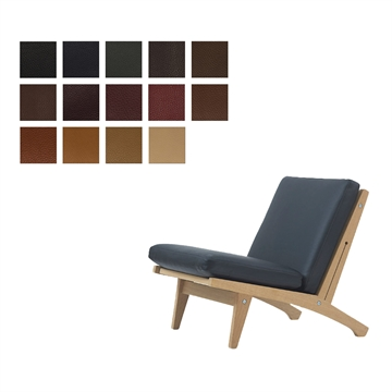 Cushion set for the GE 370 chair in Elmo Baltique Leather