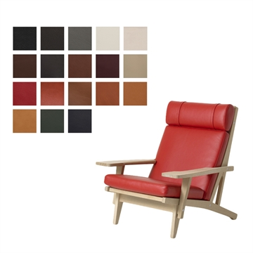 Cushion set for the GE 375 chair in Luxury Leather