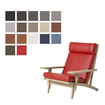 Cushion set for the GE 375 chair in Basic Select Leather