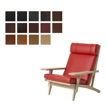 Cushion set for the GE 375 chair in Elmo Baltique Leather