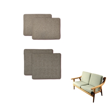 Cushions set in Basic Select Leather for the GE530 2-seat sofa