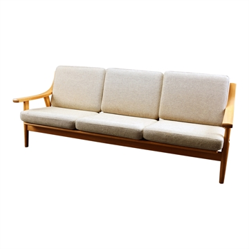 Cushions set in Basic Select Leather for the GE 530 3-seat sofa