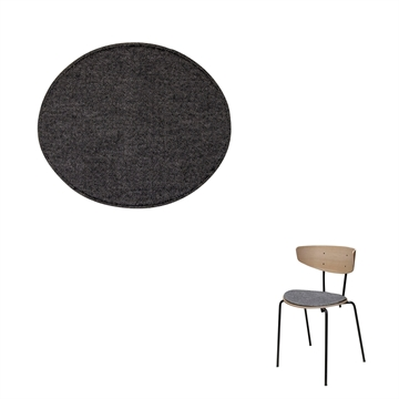 Non-reversible Luxury seat cushion in Hallingdal 65 Fabric for the Herman Chair