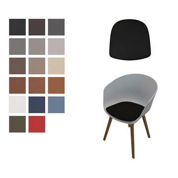 Seat cushion in Basic Select Leather for the AAC 22 Chair