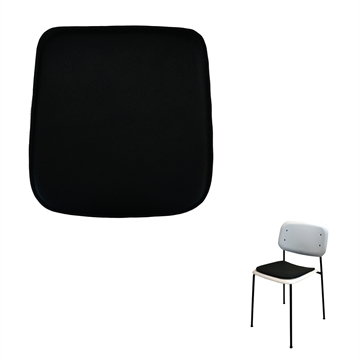 Luxury Seat cushion in Basic Select Leather for the Soft Edge 10 Chair