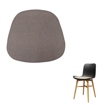 Not reversible Luxury Seat cushion in Hallingdal 65 Fabric for the Langue chair