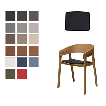 Lux seat cushion for Muuto Cover in Basic Select Leather