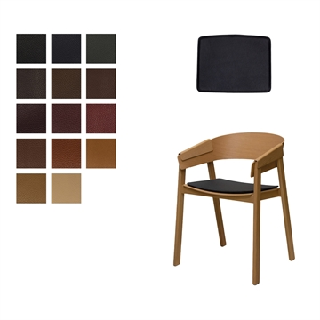 Lux seat cushion for Muuto Cover in Elmo Baltique Leather