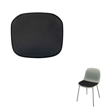Non-reversible Luxury Seat cushion in Basic Select Leather for the Muuto Fiber Side Amr chair