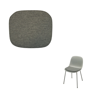 Non-reversible Luxury Seat cushion in Hallingdal 65 Fabric for the Muuto Fiber Side Amr chair