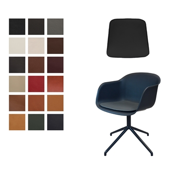 Luxury Seat cushion in Luxury 2018 Leather for Muuto fiber arm chair