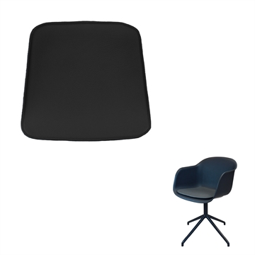 Non-reversible Luxury Seat cushion in Basic Select Leather for the Muuto Fiber Amr chair